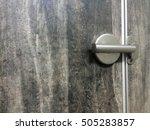 door's lock on vintage wood...   Shutterstock . vector #505283857
