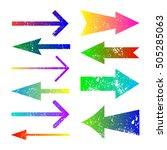 set of grunge color arrows... | Shutterstock .eps vector #505285063