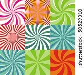 set of nine radiant backgrounds   Shutterstock .eps vector #50529310