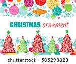 christmas ornamet. vector... | Shutterstock .eps vector #505293823