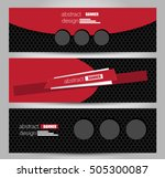 banner template. abstract... | Shutterstock .eps vector #505300087