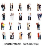 team over white clerks... | Shutterstock . vector #505300453