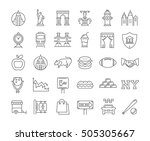 set line icons in flat design... | Shutterstock . vector #505305667