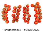 cherry tomatoes isolated | Shutterstock . vector #505310023
