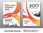 orange color scheme with city... | Shutterstock .eps vector #505316317