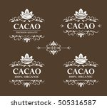 set of vector vintage flourish... | Shutterstock .eps vector #505316587