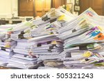 paper documents stacked in... | Shutterstock . vector #505321243