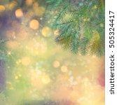 holiday christmas tree.... | Shutterstock . vector #505324417