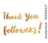 thank you followers ... | Shutterstock .eps vector #505336117