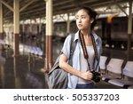 young asian traveler | Shutterstock . vector #505337203