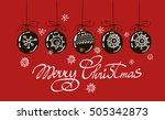 merry christmas hand lettering...   Shutterstock .eps vector #505342873