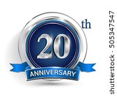 celebrating 20th anniversary... | Shutterstock .eps vector #505347547