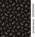 trendy seamless butterfly...   Shutterstock .eps vector #505352443