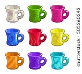 cartoon colorful bright tea cup ... | Shutterstock .eps vector #505360243