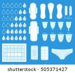 big set for menstruation ... | Shutterstock .eps vector #505371427