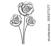 delicate flower drawing icon...   Shutterstock .eps vector #505377277