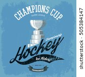 hockey trophy or cup for t... | Shutterstock .eps vector #505384147