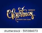 golden text on blue background. ... | Shutterstock .eps vector #505386073
