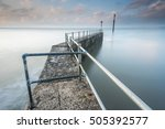 royal harbour railings ... | Shutterstock . vector #505392577