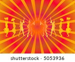 party people on abstract... | Shutterstock .eps vector #5053936