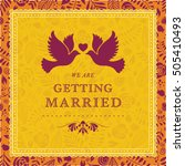vector wedding card or... | Shutterstock .eps vector #505410493