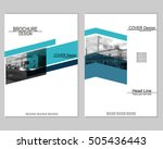 vector brochure cover templates ... | Shutterstock .eps vector #505436443