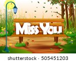 vector illustration of miss you ... | Shutterstock .eps vector #505451203