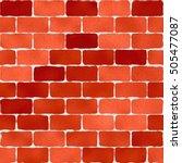 Bright Red Brick Wall Pattern ...
