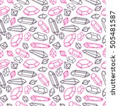 beautiful seamless pattern of a ... | Shutterstock .eps vector #505481587