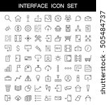 81 thin line icons for web and...
