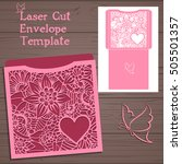 lasercut vector wedding... | Shutterstock .eps vector #505501357