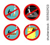 smoking is not permitted in... | Shutterstock .eps vector #505502923