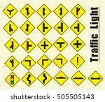 yellow traffic | Shutterstock .eps vector #505505143