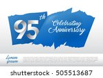 95th anniversary logo with blue ... | Shutterstock .eps vector #505513687