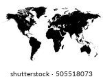 world map vector | Shutterstock .eps vector #505518073