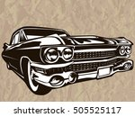 retro muscle car vector... | Shutterstock .eps vector #505525117