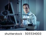 young researcher in the lab ... | Shutterstock . vector #505534003