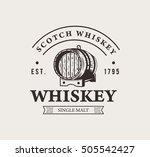 hand drawn whiskey logo.... | Shutterstock .eps vector #505542427