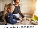 mother with her 6 years old kid ... | Shutterstock . vector #505543753