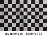 checkered racing flag. symbolic ... | Shutterstock . vector #505548793