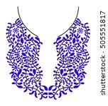 neck embroidery for fashion and ... | Shutterstock .eps vector #505551817