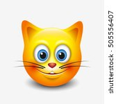 Cute Smiling Cat Emoticon ...