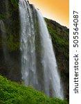 seljandsfoss waterfall  iceland   Shutterstock . vector #505564087