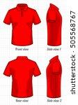 t shirt polo template set ... | Shutterstock .eps vector #505568767