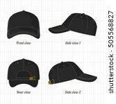 cap template set  front  side ...