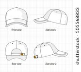 cap template set  front  side ... | Shutterstock .eps vector #505568833