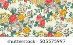 classic wallpaper seamless... | Shutterstock .eps vector #505575997