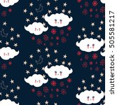 seamless pattern with cute... | Shutterstock .eps vector #505581217