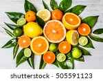 Citrus Background. Assorted...