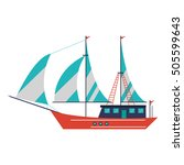 isolated sailboat ship design | Shutterstock .eps vector #505599643